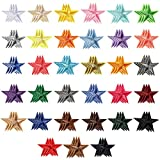99 Pieces Star Iron on Patches Mini Star Patches Star Embroidered Patches Small DIY Sewing Star Patches Colorful Sew Star Appliques for Clothing Bags Backpacks Jackets Decors, 33 Colors
