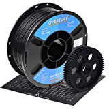 OVERTURE Nylon Filament 1.75mm with 3D Build Surface 200mm × 200mm 3D Printer Consumables, Polyamide (PA) 1kg Spool (2.2lbs), Dimensional Accuracy +/- 0.05 mm, Fit Most FDM Printer (Black)