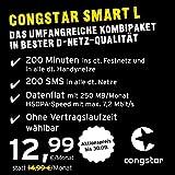 congstar Smart L [SIM y Micro SIM] Anuncio mensual (12,99 Euros/Mes, 250 MB Flat de Datos con máx....