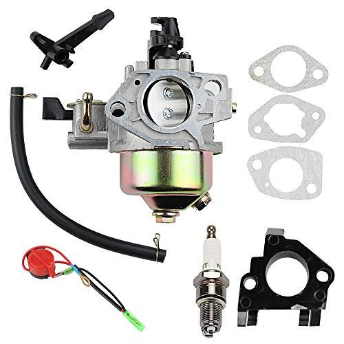 Wellsking GX390 Carburetor for Generator Honda GX 390 GX340 GX 340 13HP 11HP Toro 22308 Dingo Tx 413 Engine 16100-ZF6-V01 16100-ZF6-V00 with Spark Plug