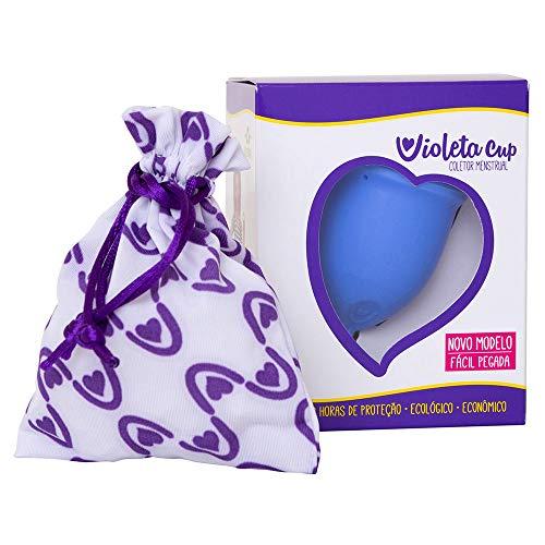 Coletor Menstrual Violeta Cup Tipo B Cor Azul, Violeta Cup