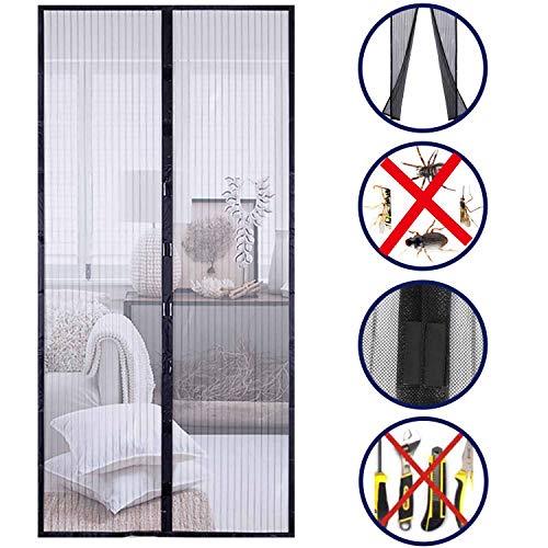 Donc La cortina de malla de la puerta con pantalla magnética manos libres mantiene a los insectos afuera Se adapta a puertas de hasta 210 * 100cm