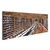 bilderfelix® Bild auf Acrylglas Weinkeller mit Weinflasche