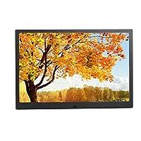 フォトフレームブラックメタルシェル12/13/15/17インチデジタルスクリーン超薄型電子アルバム音楽映画HDMI広告機はUSBおよびSDカード、リモコンをサポート