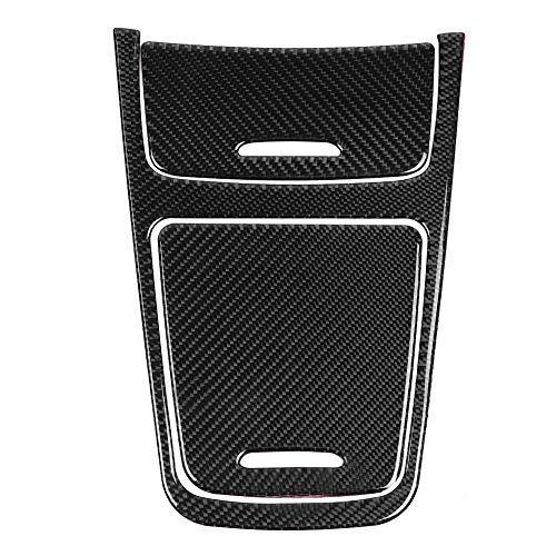 Outbit Gangschaltung - 1 PC aus zentraler Bedienfeldabdeckung aus Kohlefaser für Mercedes A-Klasse CLA GLA 2013-2019.
