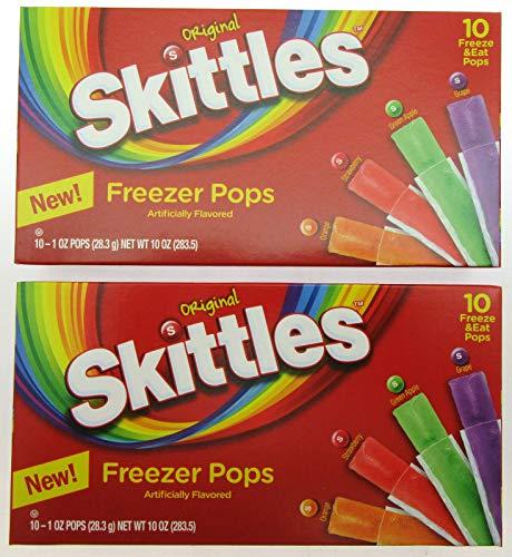 Skittles Freezer Pops ~10 freeze pop box ~ Lot of 2