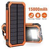 Best Solar Chargers - Solar Charger 15000mAh, Elzle Portable Solar Power Bank Review