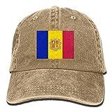 Yaxinduobao Gorra Vaquera Vaquera Andorra Flags Unisex Adult Denim Dad Fashion Handsome Baseball Hat Sports Outdoor Cowboy Cap For Men and Women