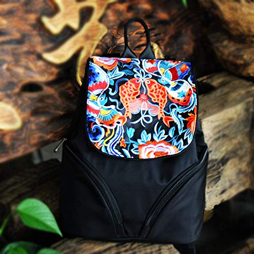 Yunnan Ethnic Embroidery Backpack Women's Bag Fashion Embroidery Backpack Retro Embroidery Bag