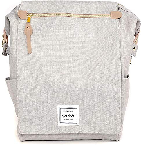 KJARAKÄR Backpack - Commuters, Travelers, Women, Kids, or School! (Light Grey)