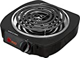 IMUSA USA Electric Single Burner, Black