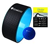 GreEco Set of 2, Includes Yoga Wheel 13 x 5 Inch and Deep Tissue Massage Ball 5 Inch