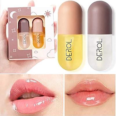 DEROL Lip Plumper - Lip Enhancer and Lip Care Serum Set/Lip Balm Lip Plumping Lip Maximizer for Fullness, Plumping & moisturizing Lips by DEROL