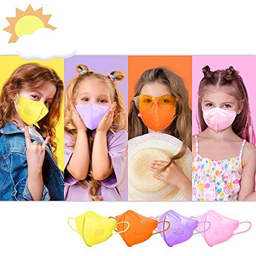 FFP2 Masken, Masken Mundschutz, FFP2 Maske CE Zertifiziert, FFP2 Maske Bunt, FFP2 Maske Farbig, Bunte FFP2 Masken Rosa Lila Orange Gelb, Gesichtsmaske Mund Nasen Schutzmaske Kleine Größe 12 Stück