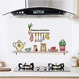 Küche Anti-Öl-Aufkleber Home Cabinet Decals Dunstabzugshaube Gasherd Mit Hochtemperatur Wasserdichte Fliesen Wandaufkleber Wallpaper