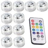 10pcs Unterwasser-LED-Lichter Wasserdichte Unterwasserlichter SMD 3528 RGB Stimmungs-Lichter für Vase