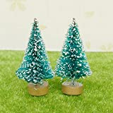 BulzEU 1 12 Puppenhaus Miniatur Weihnachten Weiß Snowy Xmas Mini Bäume Garten Dekorative Ornamente