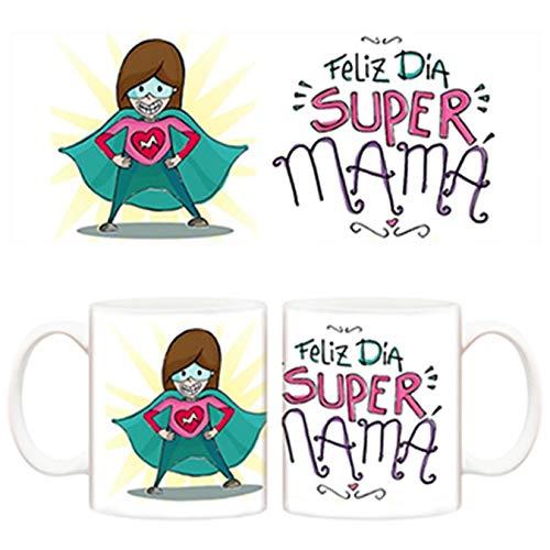Diver Tazas Taza Feliz día de la Madre Supermamá - Cerámica