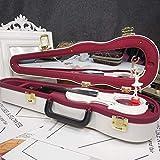オルゴール 音楽ボックス オルゴール レトロ 装飾 誕生日 DIY 子供 プレゼント ミュージックボックス LCLJP (Color : Violin white, Size : フリー)