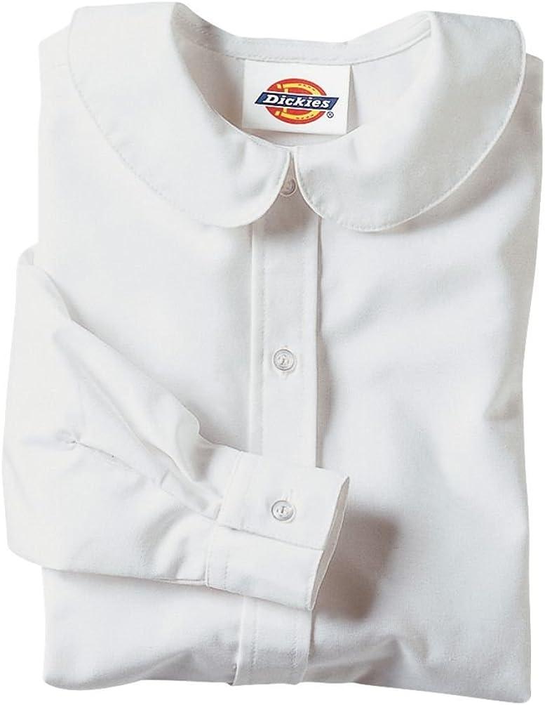 Fixed price for sale Dickies Big Girls' Long Sleeve Peter Pan Popular overseas Blouse Collar
