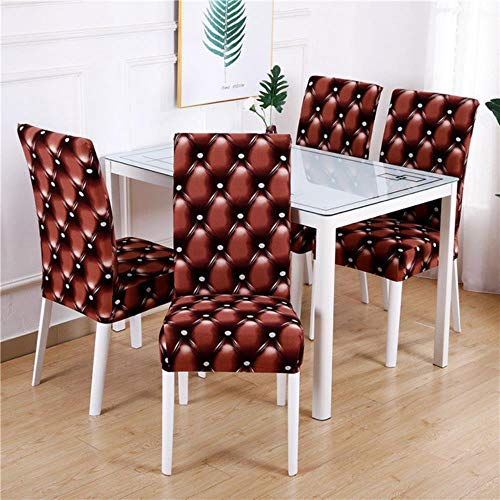 NA 1/2/4/6PCS Flower Printed Geometric Kitchen Chair Covers Spandex Elastic Stretch Decoration Chair Dining Seat Cushion Anti-Dirty,Pattern 6,1piece