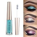 GL-Turelifes Glitter Liquid Eyeshadow Starry Paillettes Mermaid Eye Shadow Long Lasting Waterproof Sparkling Shimmer Eyes makeup (# 12 Azzurro)