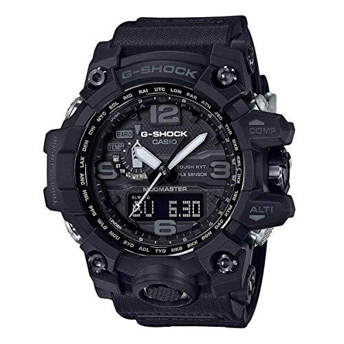 Men's Casio G-Shock Master of G Mudmaster Triple Sensor Black Watch GWG1000-1A1