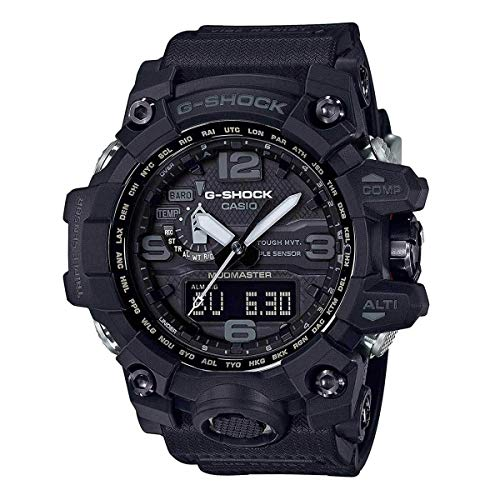 Men's Casio G-Shock Master of G Mudmaster Triple Sensor Black Watch GWG1000-1A1