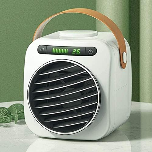 XJYDS 2020 Enfriador de Aire Personal, Luces Digitales Aire Acondicionado portátil, Ventilador de refrigeración de Escritorio móvil, refrigerador evaporativo de Espacio pequeño, para Oficina en casa