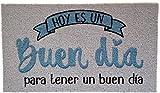koko doormats Felpudo para Entrada de Casa Hoy es un Buen día Original y Divertido/Nylon con Base de PVC, 70x40 cm, Color Azul Claro