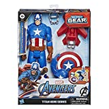 Hasbro Marvel Legends Series Avengers - Captain America (Action Figure 30cm con Blaster Titan Hero...