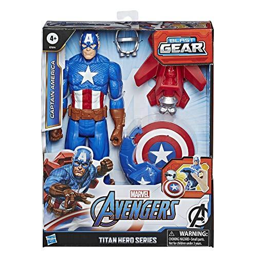 Hasbro Marvel Legends Series Avengers - Captain America (Action Figure 30cm con Blaster Titan Hero Blast Gear)