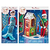 the ELF on the SHELF Claus Couture Frosted Fishing Hut, Green