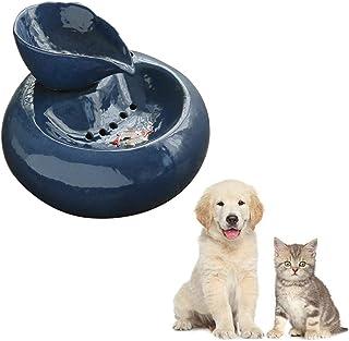 AKDSteel - Fuente de Agua Circular automática de cerámica para Gatos