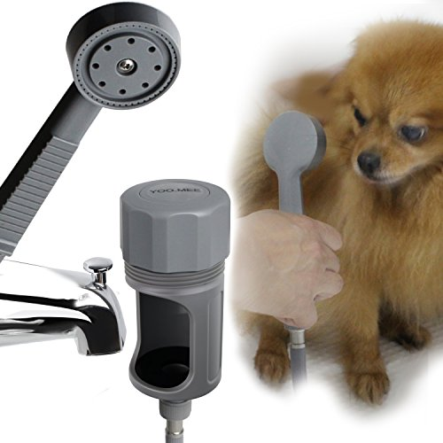 YOO.MEE Pets Shower Attachment, Quick Connect on Tub Spout w/Front Diverter, Ideal for Bathing Child, Washing Pets and Cleaning Tub
