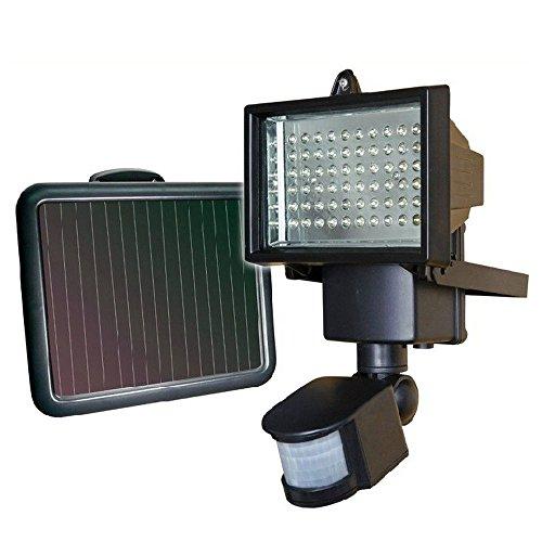 60 LED Solarlampe Solarleuchte Außen Solarstrahler Bewegungsmelder Leuchte [Energieklasse A+]