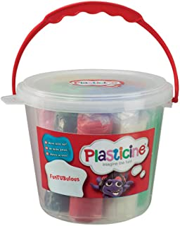 Plasticine F9L10259 FunTUBulous Modelling Clay with Moulds, Multi-Colour