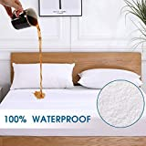 VODOF Full Size Premium 100% Waterproof Mattress Protector-Vinyl Free, Deep Pocket Fits 12-15 Inches Cooling Cotton Terry Waterproof Mattress Cover