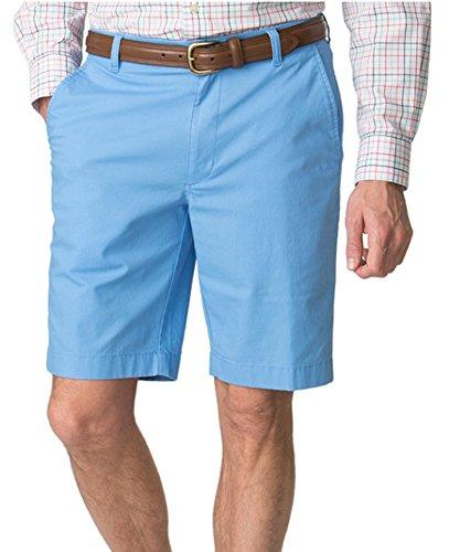Chaps Men's Classic-Fit Poplin Flat-Front Stretch Bermuda Shorts (Florida Blue, 38)
