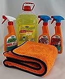 HCR Hygiene Autoreinigungs-Set 5-teilig Cockpitspray, Felgenreiniger, Insektenentferner,...