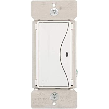 Eaton RF9520WS ASPIRE Non-RF 3-Way LED Accessory Switch for The RF9518 Wireless Switch White Satin Finish