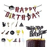 Feliz Cumpleaños Banderas,Suministros de Fiesta de Feliz Cumpleaños,Decoración de Pastel de...