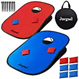 Juegoal 3x2ft Collapsible Portable Cornhole Game Set with 2 Cornhole Boards, 10 Bean Bags, Carrying Bag, and...