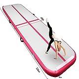 FBSport Alfombrilla hinchable para gimnasia Airtrack de 4 m/5 m/6 m de longitud para gimnasio,...