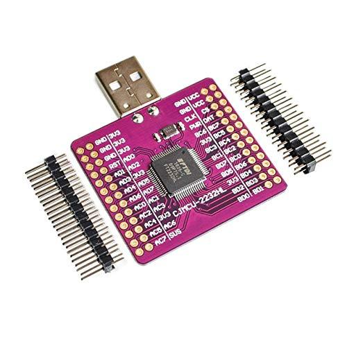 CJMCU-2232 FT2232 HL USB zu UART FIFO SPI I2C JTAG RS232-Modul FT2232HL N9P6-Weinrot (BCVBFGCXVB)