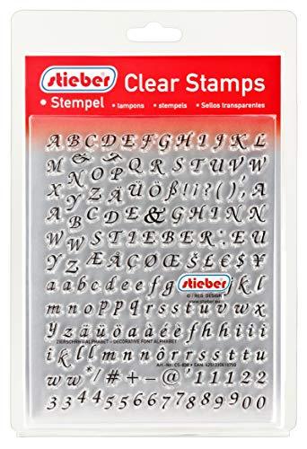 stieber Clear Stamps Transparente Stempel Sets (Bitte gewünschtes Motiv/Thema unten auswählen!) (Zierschrift-Alphabet - Decorative Font Alphabet)