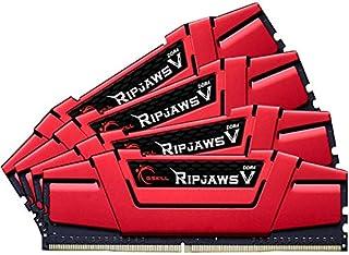 G.SKILL 32GB (4 x 8GB) Ripjaws V Series DDR4 PC4-26600 333MHZ ل Intel Z170 Platform 288-Pin Desktop Memory Model F4-333C16...