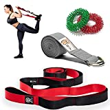 ZIN Yoga Stretching Strap with Loops Physical Therapy. Stretch Strap for Hamstring Stretcher. Exercise Strap for Stretching with Resistance Band. Leg Stretcher Strap for Flexibility by ZIN Health