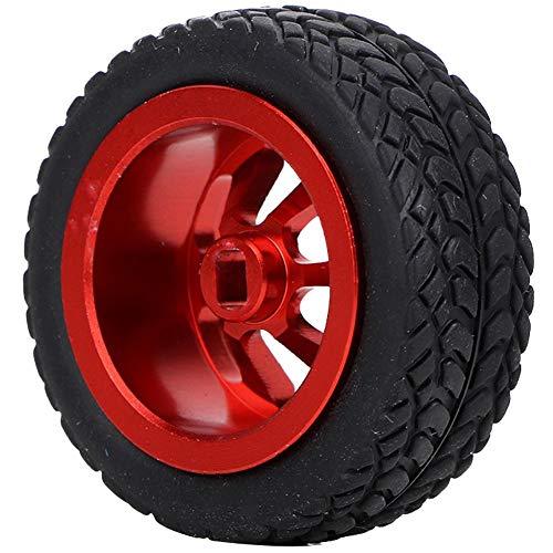 VGEBY1 Neumáticos RC, 4PCS RC Car Model Upgrade Neumáticos y Ruedas para WLtoys 1/28 K989-53 Neumáticos RC(Rojo)