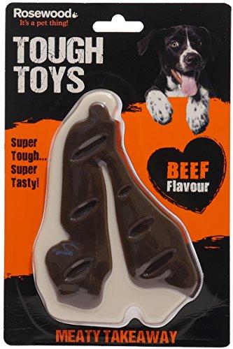 Rosewood Meaty Beef Steak Takeaway Tough Dog Toy, Larg